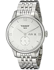 Tissot T0064281103801del hombre le Locle pantalla analógica Swiss automático plateado reloj