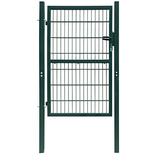 Anself Cancello Pedonale Giardino Cancello Staccionata 2D (singolo) Verde 106 x 170 cm