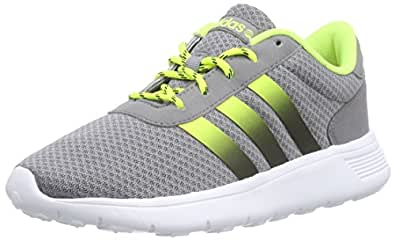 adidas Lite Racer, Scarpe da Ginnastica Unisex – Adulto, Grigio (Grau (Grey/Core Black/Solar Yellow), 36 2/3 EU