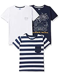 Amazon Brand - Jam & Honey Boy's Tribal Regular fit Cotton T-Shirt (Combo Pack of 3)