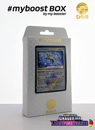 ESAM Box #myboost ARCEUS 96/131 - Sonne und Mond 6 Grauen der Lichtfinsternis - 10 Deutsch Karten Pokemon