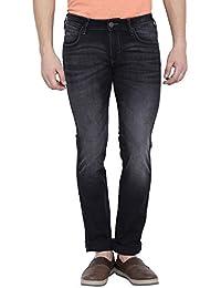 Wrangler Men Solid Cotton Grey Jeans - B06XFY3Y65