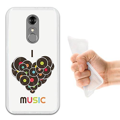 WoowCase ZTE Blade A910 Hülle, Handyhülle Silikon für [ ZTE Blade A910 ] Ich Liebe Musik Handytasche Handy Cover Case Schutzhülle Flexible TPU - Transparent