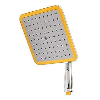 Alargador de ducha cuadrado de 9 pulgadas con ajuste de alcachofa de lluvia, cromado, gran alcachofa de ducha con poste (cuadrado – 9 pulgadas), As Picture Show, square -9 inch