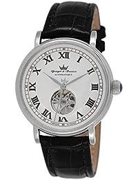 Yonger & Bresson YBH 8524-10 B - Reloj de pulsera hombre, piel, color negro