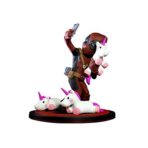 Quantum Mechanix QMVL026 Deadpool #Unicornselfie Q-Fig Diorama con Unicornios