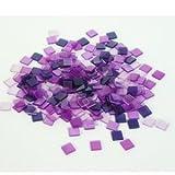 Acryl-Mosaik 1x1cm transparent ca.205 St./50g violett