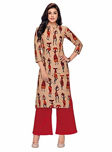Miraan Womens Printed Straight Cotton Kurti- 10XXL