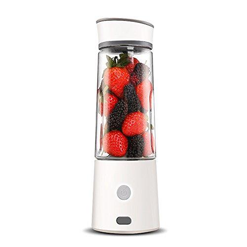 ZZG Juice Cup Portable Lade nach Hause multifunktions kleine Obst zentrifugal entsafter einfach zu reinigen geräuschlos Motor high Power (Color : Weiß)