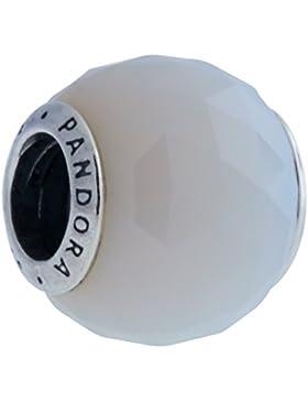 Pandora Damen-Charm Facetten 925 Silber Glas weiß - 791722NOW