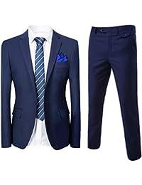Slim Fit 2-Teilig Herren Anzug für Hochzeit Party