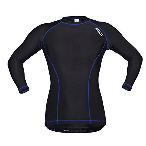 JYMDH Herren Fahrrad Shirts Langarm Biker Trikots Voller Reißverschluss Winter Radfahren Getriebe Atmungsaktiv,L