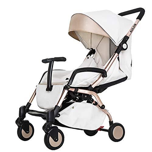 Ydq Kinderwagen,Ab Der Geburt Nutzbar Mit I Babyschale, Automatische Sekundenschnelle Aufklappfunktion Und Robuste Reifen FüR Jedes GeläNde,