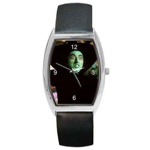 Halloween, Zauberer von Oz, Wicked Hexe auf einem Damen Lauf Armbanduhr mit Leder Band