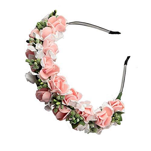 Fang-denghui, Frauen Hochzeit Blumen Haarband Mit Blumen Stirnbänder Für Frauen Mädchen Haarschmuck Schaum Kopfbedeckungen Haarschmuck -
