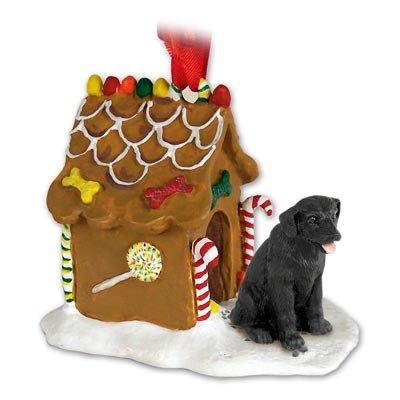 Schwarz lab Labrador Retriever Lebkuchenhaus Weihnachten Ornament -
