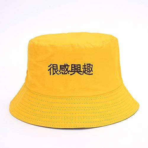 Baumwolle Reversible Eimer Hut - QQYZ Chinesische Buchstabe Eimer Hüte Männer