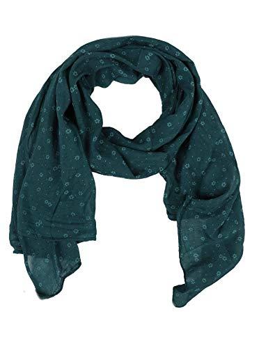 Seiden-Tuch Damen Blumen Muster - Made in Italy - Eleganter Sommer-Schal für Frauen - Hochwertiges Seidentuch / Seidenschal - Halstuch und Chiffon-Stola stilvolles Muster von Zwillingsherz grün (Schwarz Seide Und Weiß Blumen)
