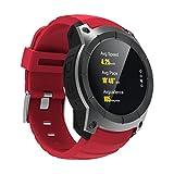 Generic S958Smart montre GPS téléphone, 3,3cm Mtk2503, réseau: 2G, prise en charge de la carte SIM et GPS et Baromètre et moniteur de fréquence cardiaque et podomètre & Sleep Monitor & Bluetooth (Rouge)