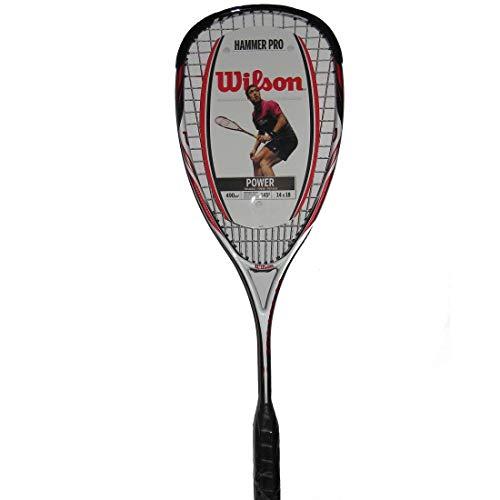 Wilson Squash-Schläger, Hammer Tech Lite, Unisex, Kopflastige Balance, Gelb/Blau, WRT914830
