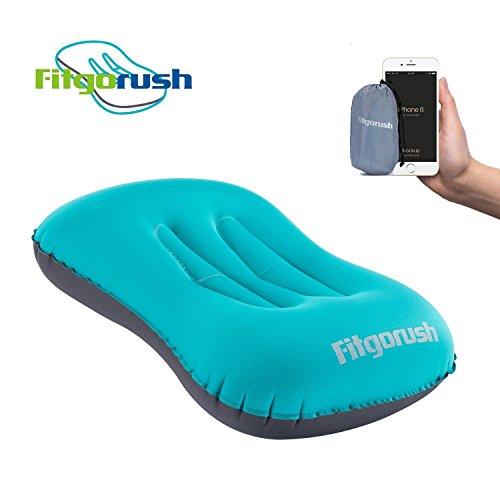 Fitgorush cuscino gonfiabile da campeggio cuscino da viaggio comodo leggero portatile compatto guanciale da viaggio per escursione spiaggia montagna mare testa collo