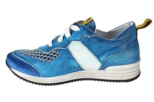 TOGAZZU edler Ledersneaker Momino handgearbeitet Blau