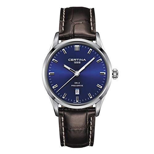 Certina Men's DS-2 40mm Brown Leather Band Quartz Watch C024.410.16.041.20