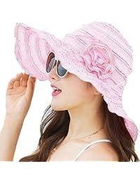 Eastery Sombrero De Playa De Elegante Mujer Sombrero para Verano Protector  Estilo Simple Solar Plegable Protección fac25db4b13