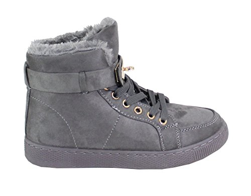 By Shoes Damen Sneakers Grau