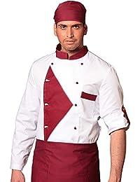 TCD GROUP Ricamo Gratuito Giacca Cuoco Chef in 30 Colori e Modelli Diversi  - No Stiro 3607204dea75
