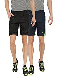 Sports 52 Wear Men's Polyester Pack Of Two Sports Shorts