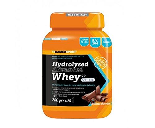 HYDROLYSED ADVANCED WHEY - Named - Prodotto dietetico per sportivi con edulcorante naturale a base di proteine del Siero del latte idrolizzate da Isolato - 4132gDu1q9L