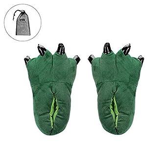 Unisex pantoufle in peluche di figura animale Chausson caldo d' inverno autunno Slipper cotone casa scarpa Fodera ultra-souple suola in similpelle epais antiscivolo Uomo Donna