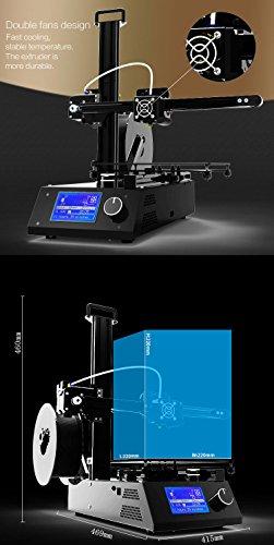 Tronxy Prusa i3 3D Drucker DIY Kit Full Metal Struktur mit MK3 Heatbed, Doppelventilatoren, HD LCD Display, Max Drucken Größe: 220 * 220 * 220 MM - 7