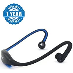 Captcha MPBL-020 Wireless Neckband Running Earphone Outdoor Sports Headphone with Microphone Workout In-ear Earbud Lightweight Behind-the-neck Band Headset For All Android & Iphone Smartphones (One Year Warranty, Assorted Colour)