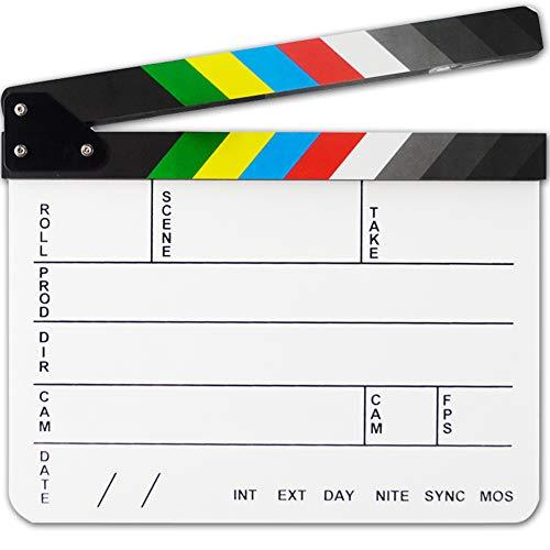 zmigrapddn 30 cm x 25 cm Acryl Dry Erase Film Regisseur Clapboard Cut Action Video Szene Film Film Film Film Film Film Film Film Film Film Clapper Board Schiefertafel mit Farbstiften