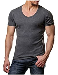 Young and Rich - Tee shirt col V plongeant Young and Rich 74 Gris