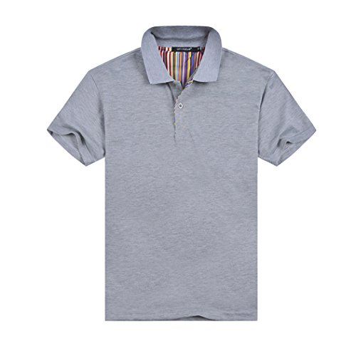MTTROLI Polo Shirts Casual Short Sleeve T Shirts for Men Solid Slim Polo Shirts Turn-Down Collar Men Polos