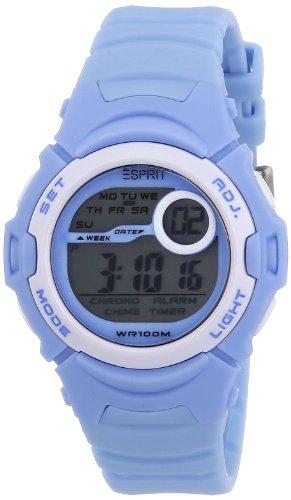 Esprit sports adventurer ES906464003 - Reloj digital de cuarzo unisex, correa de resina color azul