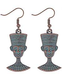 7017354dc16c J Meng Pendientes Colgantes Estilo étnico Vintage de faraón de Egipto con  la Cabeza de los