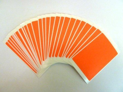 30 etiquetas, 75x50mm Rectangulo, fluorescente rojo llama, código de color PEGATINAS, autoadhesivo Adhesivo Etiquetas Colores
