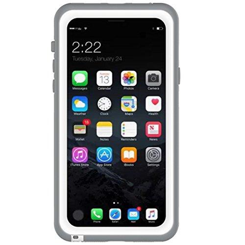 iPhone X Waserdicht Hülle [Happon] Ultra Slim [IP68 Zertifiziert Wasserdicht] Stoßfest Stubdichtes Snowproof Handyhülle Kratzfestes Gehäuse Outdoor Handy Schutzhülle Unterwasser Cover Tasche Case für iPhone X (Weiß)