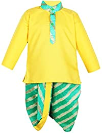Bownbee Lehriya Dhoti Kurta For Boys