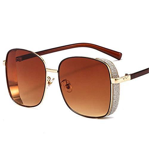 Lisa旗舰店 Sonnenbrillen Europa und die Vereinigten Staaten Trend Square Sonnenbrillen Metall Sonnenbrillen Aufkleber Dickkantige weibliche Brille,5