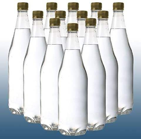 Home Brew - Pack Of 24 - 1 Litre PET (Plastic) Clear Bottles With Gold Caps