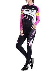 Brave Pioneer Femme Maillot Cyclisme Manche Longues Jersey Pantalon Cycling Vélo Costume Suit Pour Bike