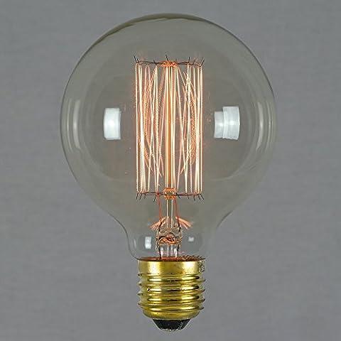 Ampoule Edison Vintage 60w 80mm - Sphérique à filament rétro vintage antique E27 - The Retro Boutique ®