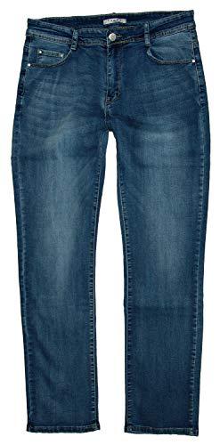Voggo Damen Stretch Jeans Hose, jeansblue Used W5005, Gr.48