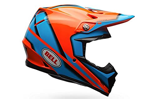 Bell casques MX 2017 Moto-9 casque pour adulte, Spark Orange/bleu, Taille Medium