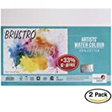 Brustro Artists' Watercolour Paper 300 GSM A5-25% cotton, CP 2 Packets (Each Packet Contains 18 + 6 Sheets Free)